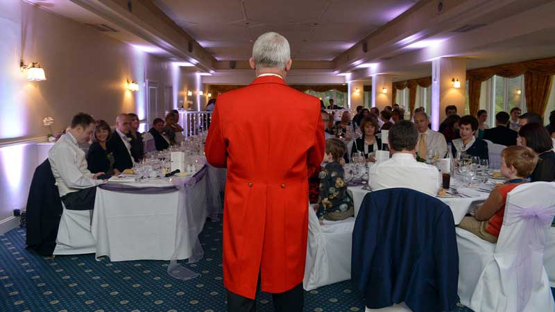 Toastmaster Martin Jukes Performing his Duties